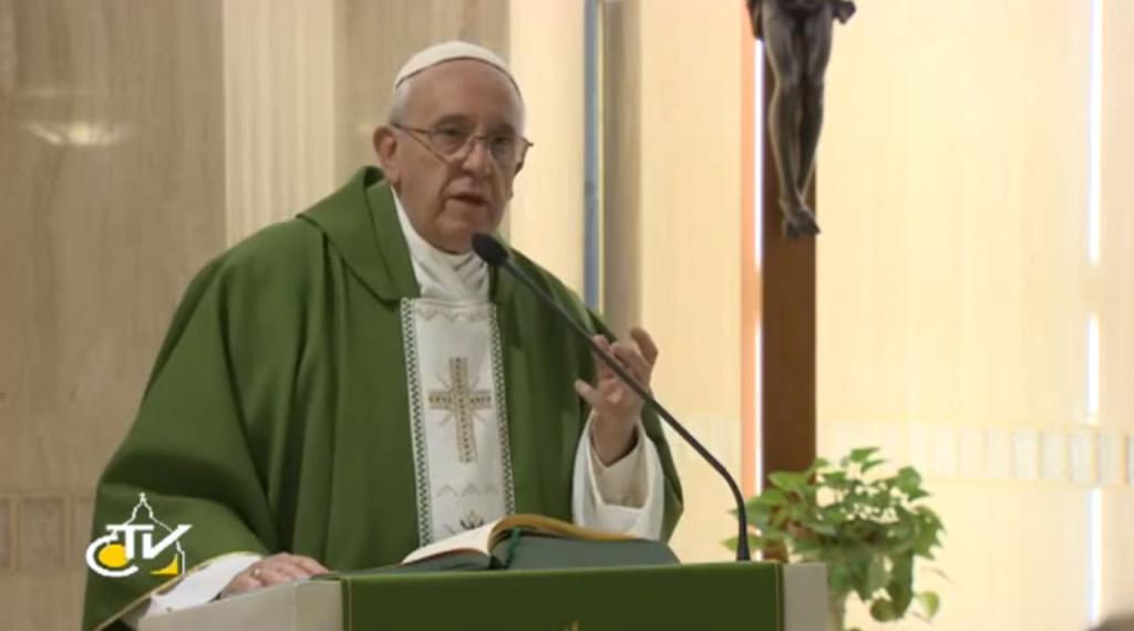 Papa homilia santa marta