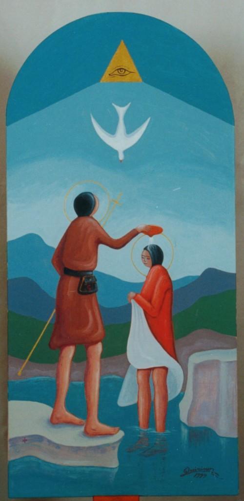 Die Taufe Jesu - CM. - 50 X 100