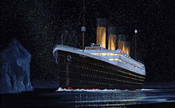 titatic verso iceberg