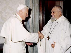 Enzo Bianchi con Benedetto XVI