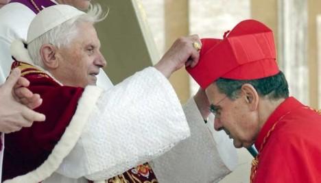 carlo Caffara mit Benedikt XVI